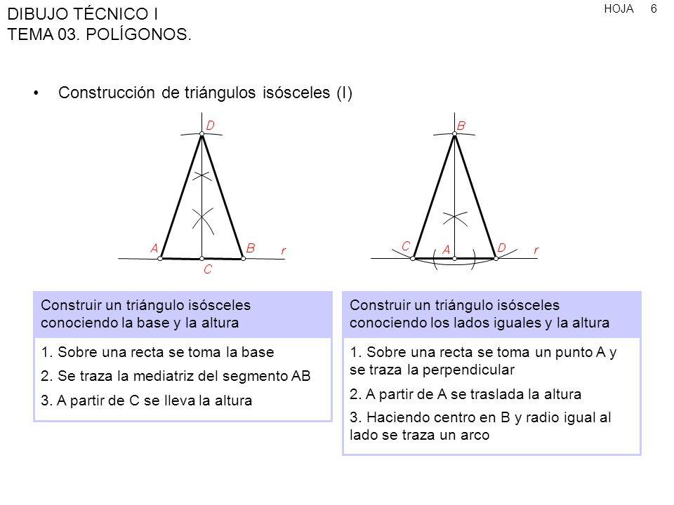 Construcción de triángulos isósceles (I)