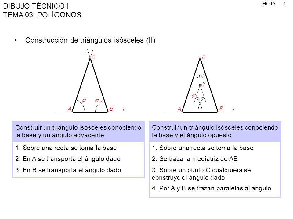 Construcción de triángulos isósceles (II)