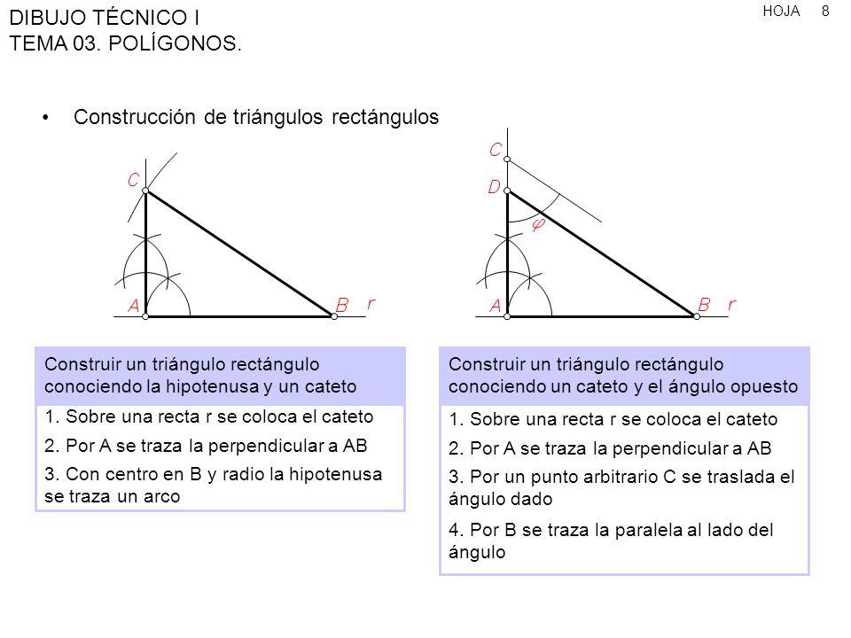 Construcción de triángulos rectángulos