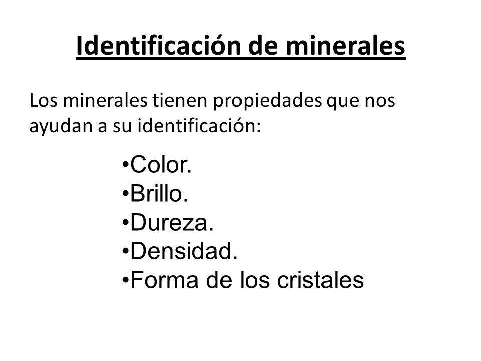 Identificación de minerales