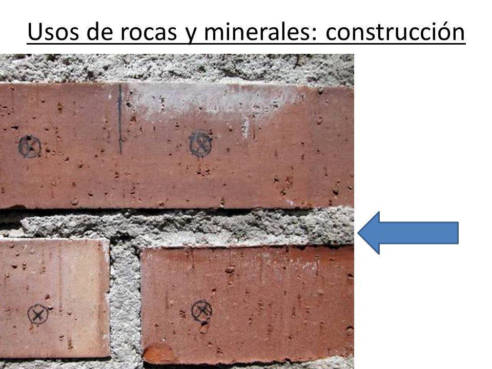 Usos de rocas y minerales: construcción