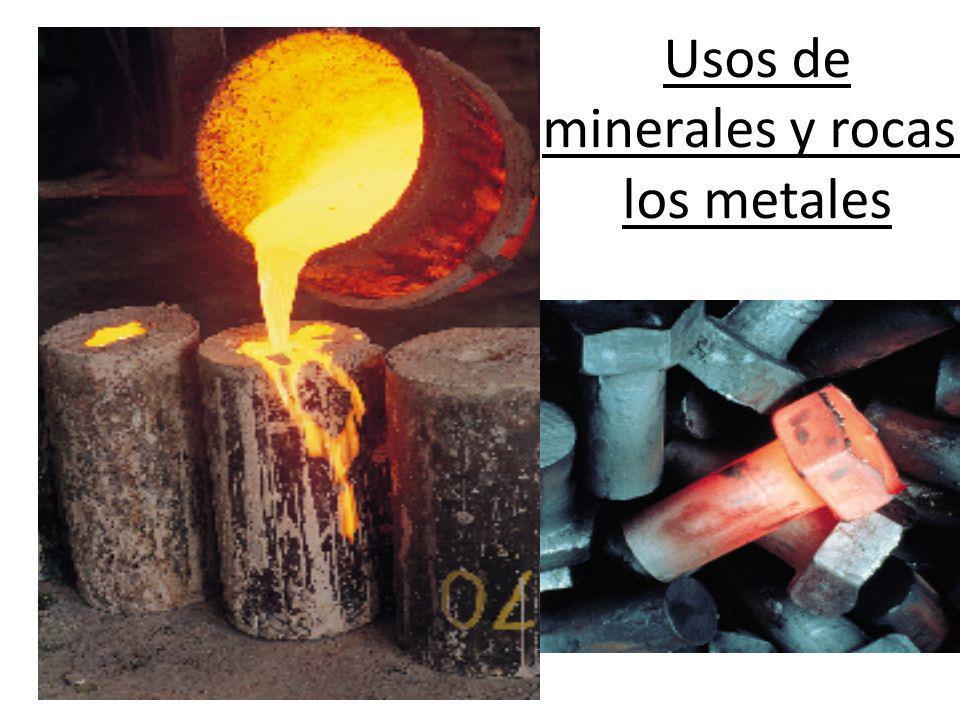 Usos de minerales y rocas: los metales