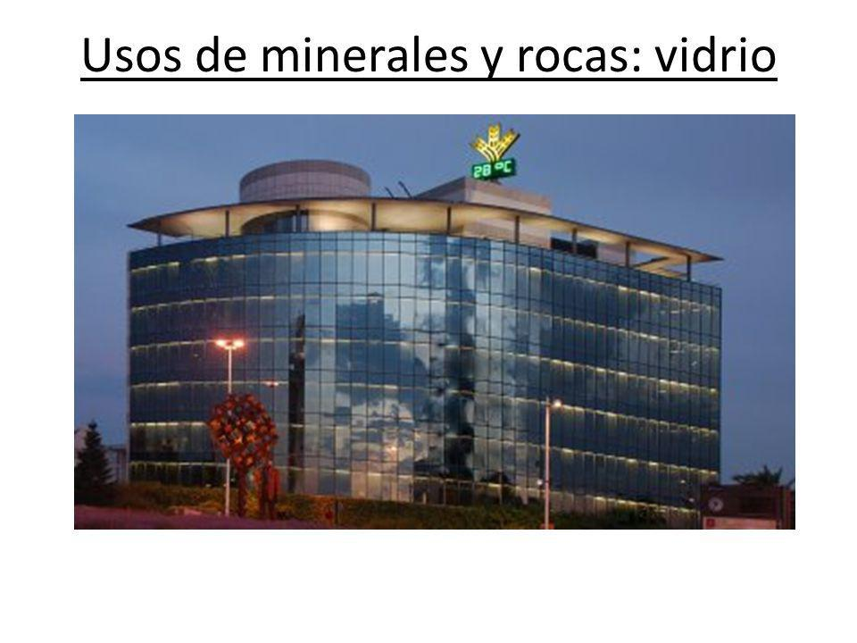 Usos de minerales y rocas: vidrio