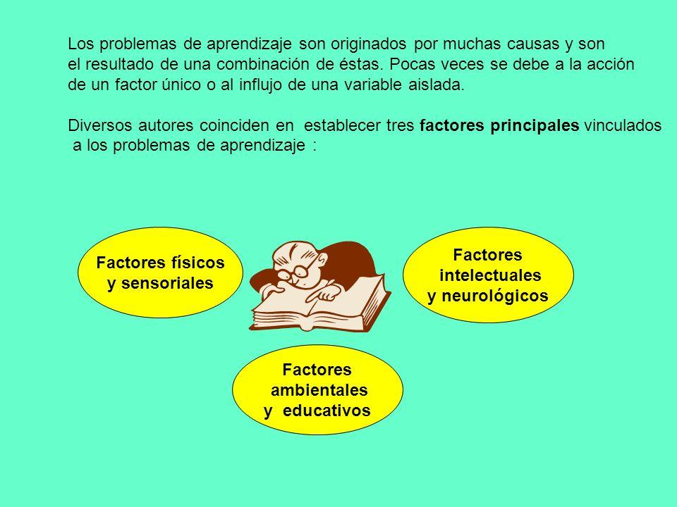 Los problemas de aprendizaje son originados por muchas causas y son