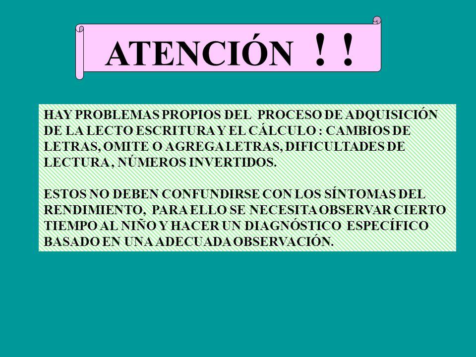 ATENCIÓN ! ! HAY PROBLEMAS PROPIOS DEL PROCESO DE ADQUISICIÓN