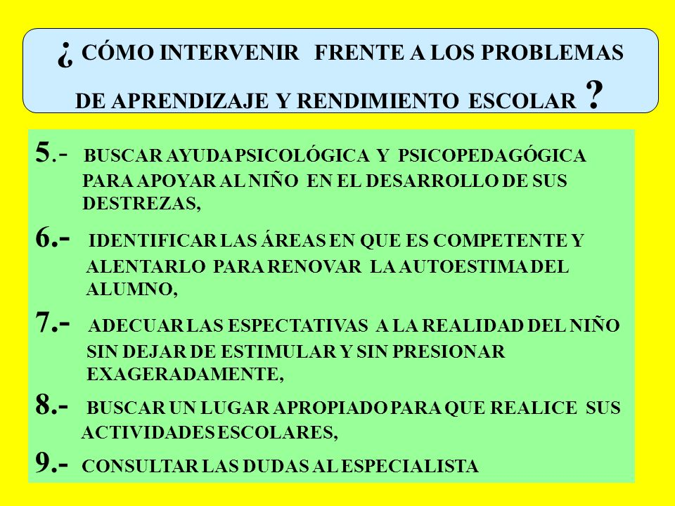 ¿ CÓMO INTERVENIR FRENTE A LOS PROBLEMAS