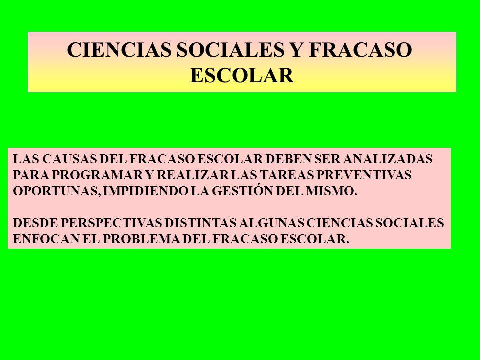 CIENCIAS SOCIALES Y FRACASO