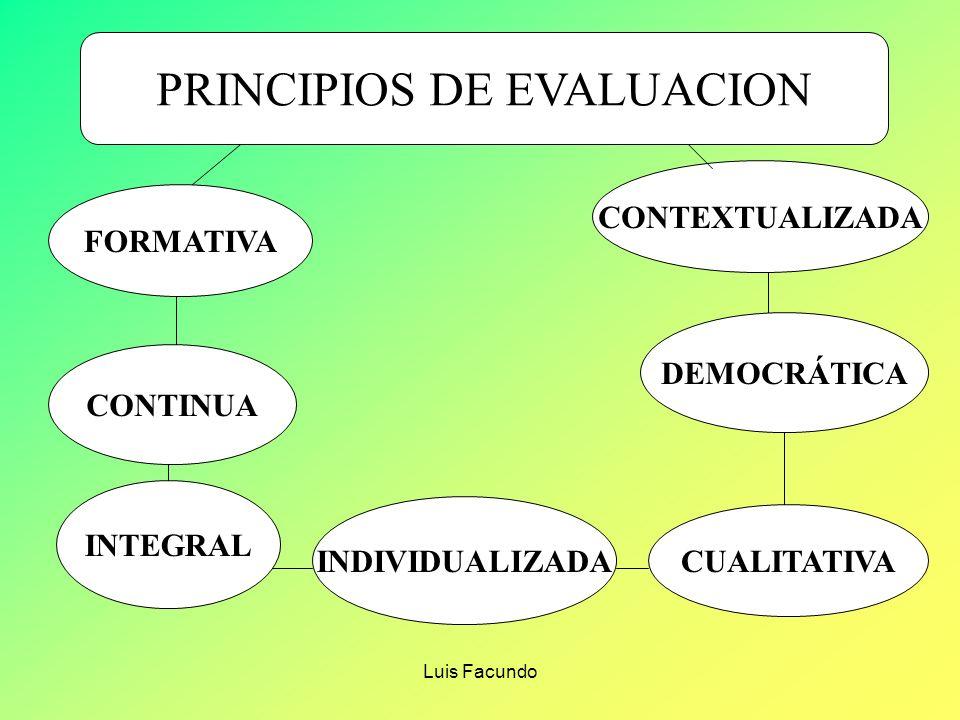 PRINCIPIOS DE EVALUACION