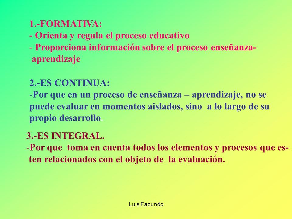 - Orienta y regula el proceso educativo