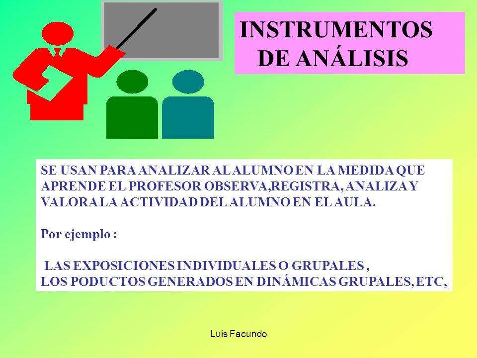 INSTRUMENTOS DE ANÁLISIS