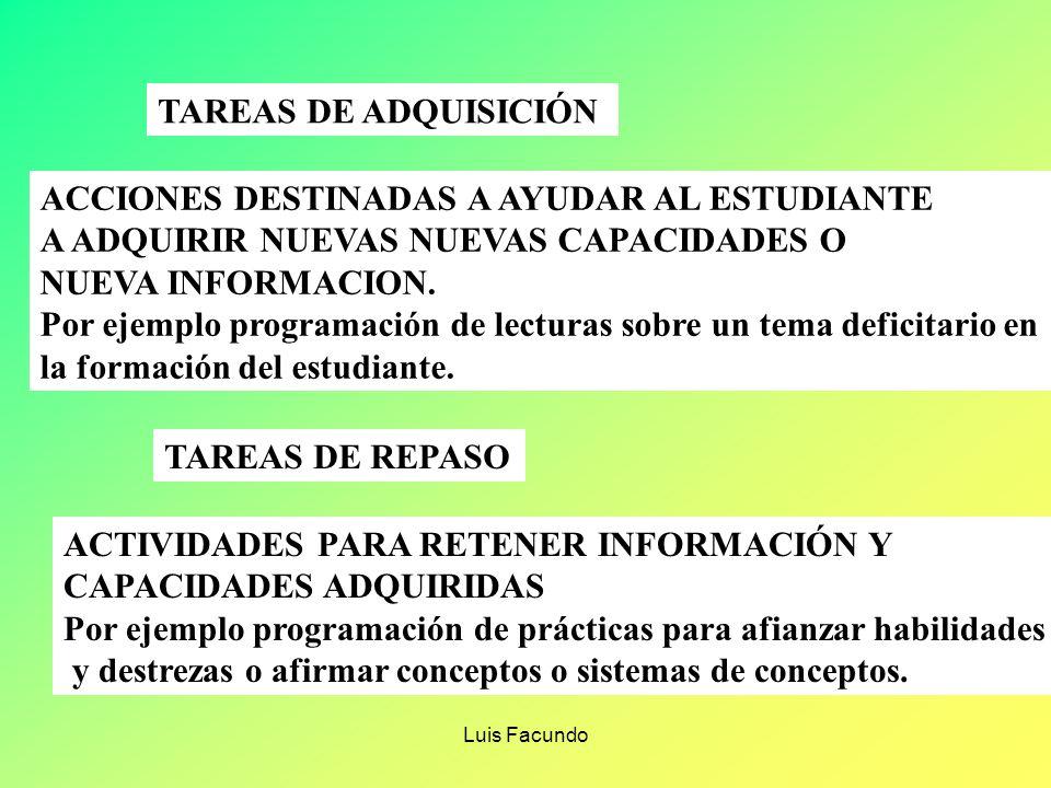 ACCIONES DESTINADAS A AYUDAR AL ESTUDIANTE