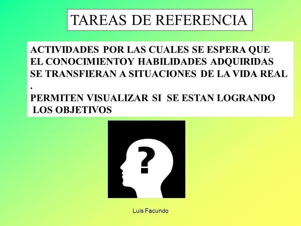 TAREAS DE REFERENCIA ACTIVIDADES POR LAS CUALES SE ESPERA QUE