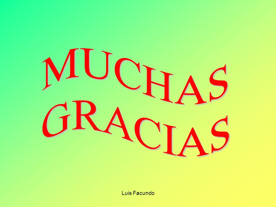 MUCHAS GRACIAS Luis Facundo