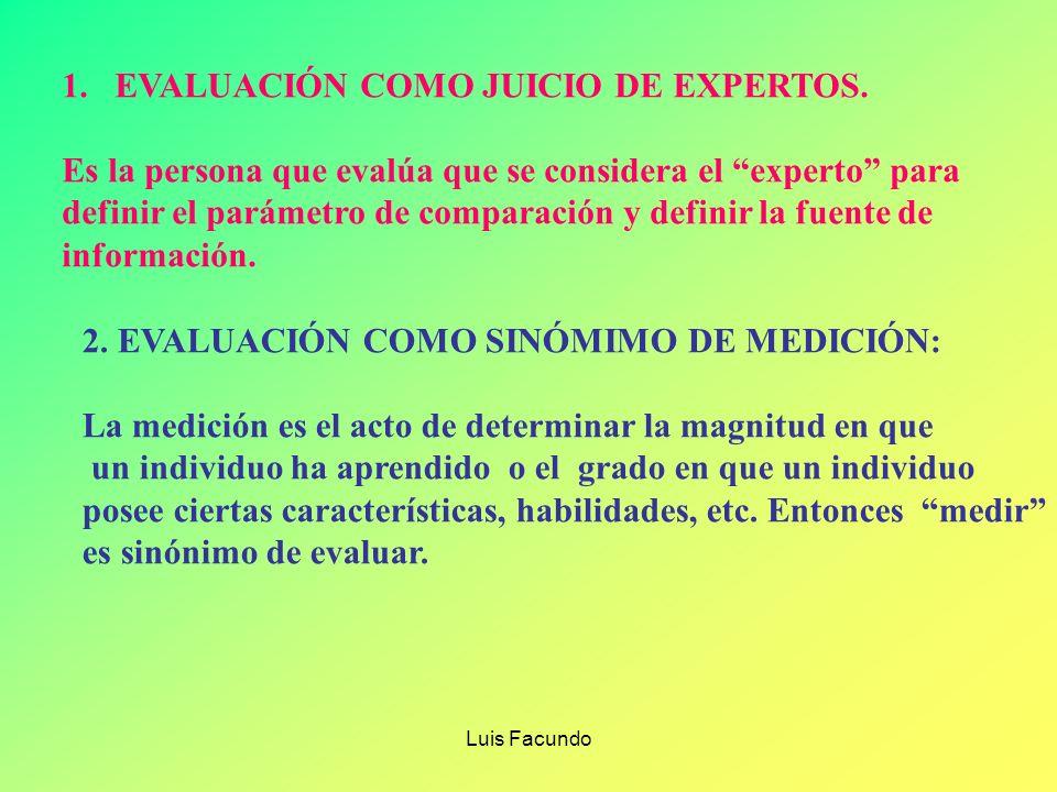 EVALUACIÓN COMO JUICIO DE EXPERTOS.