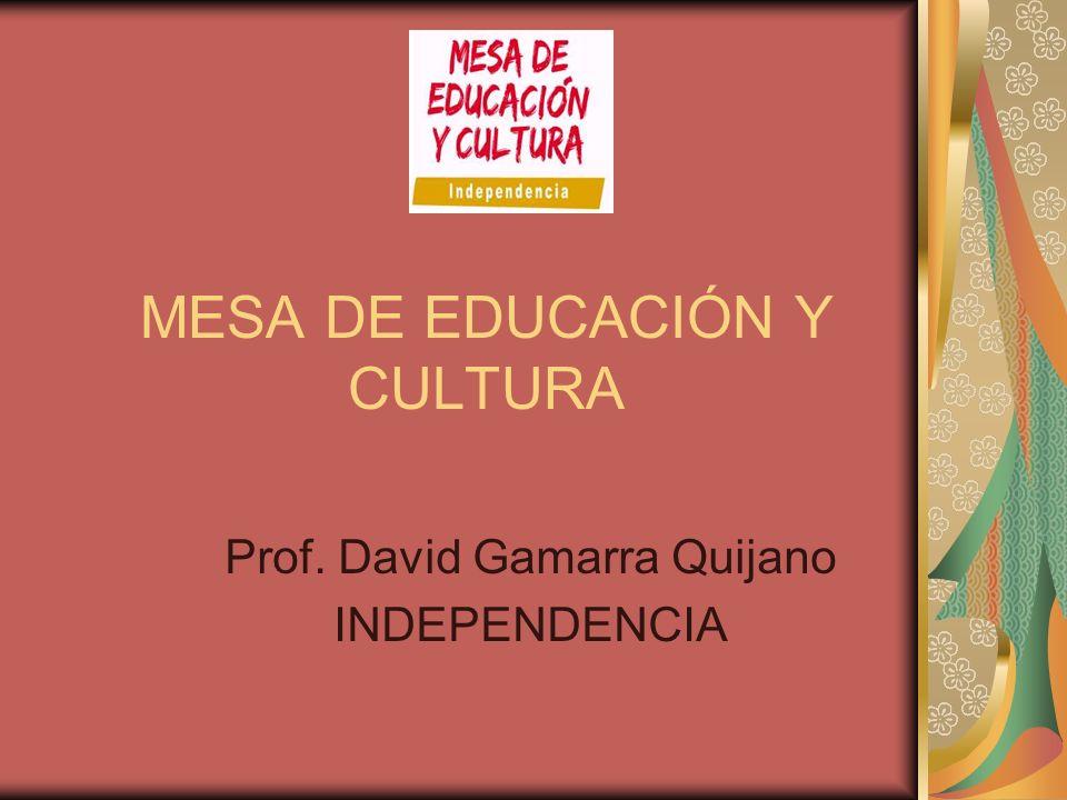 MESA DE EDUCACIÓN Y CULTURA