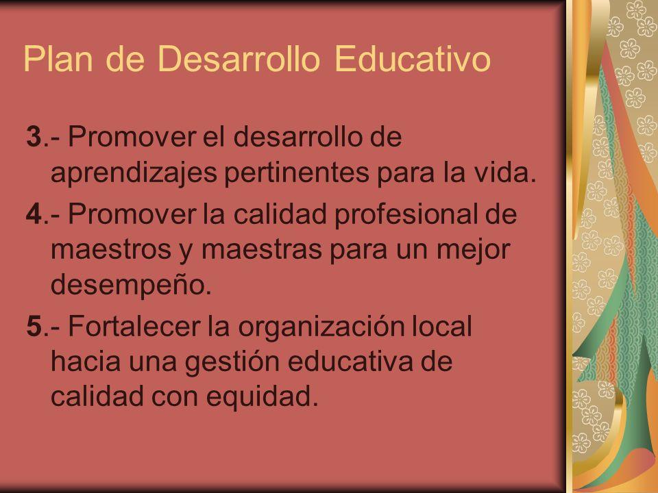 Plan de Desarrollo Educativo