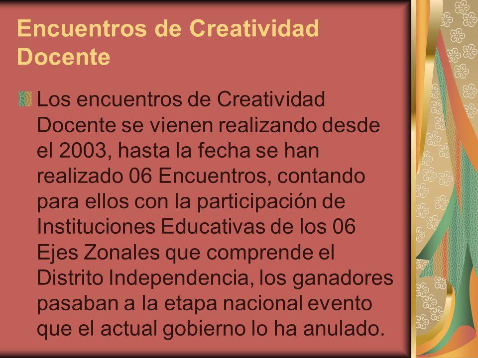 Encuentros de Creatividad Docente