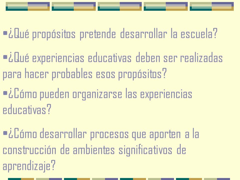 ¿Qué propósitos pretende desarrollar la escuela