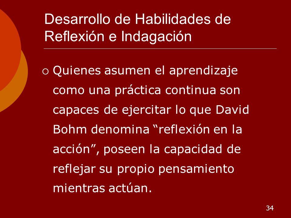 Desarrollo de Habilidades de Reflexión e Indagación