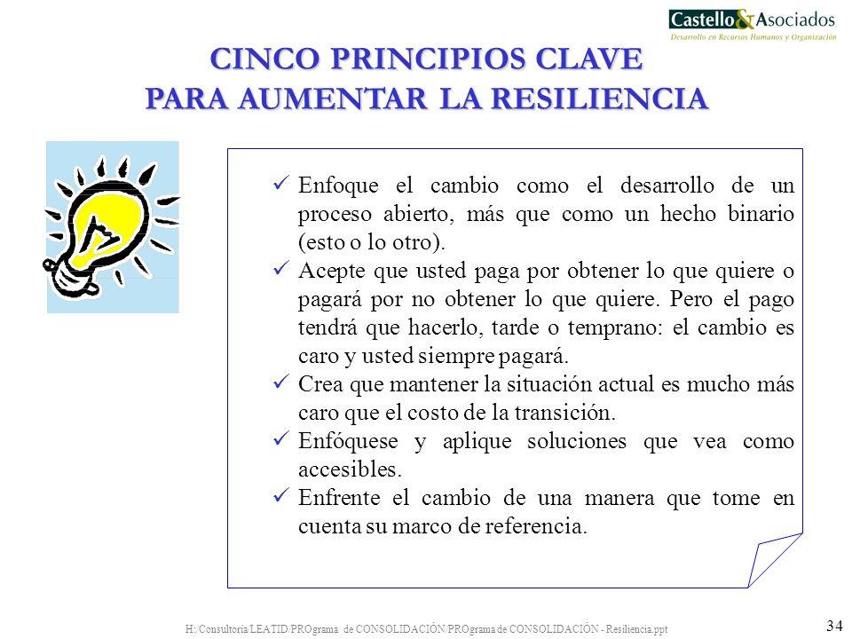 CINCO PRINCIPIOS CLAVE PARA AUMENTAR LA RESILIENCIA