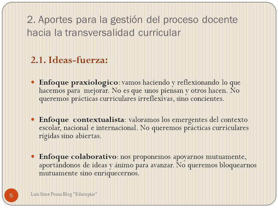 2. Aportes para la gestión del proceso docente hacia la transversalidad curricular