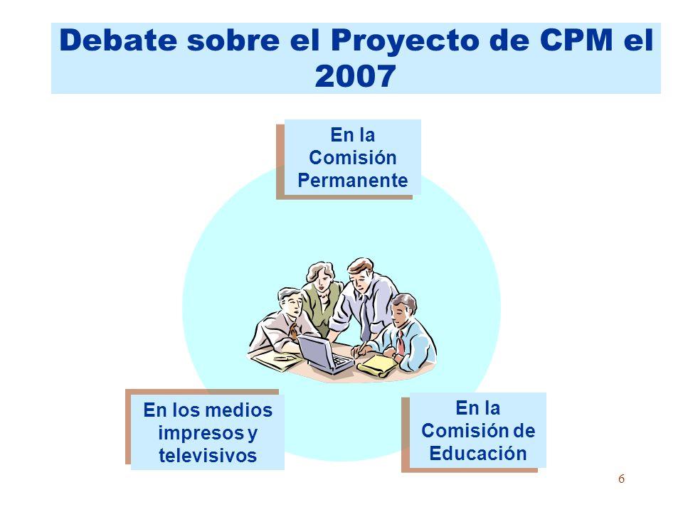 Debate sobre el Proyecto de CPM el 2007