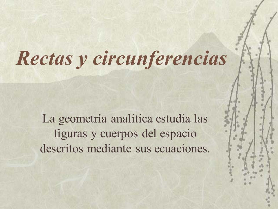 Rectas y circunferencias