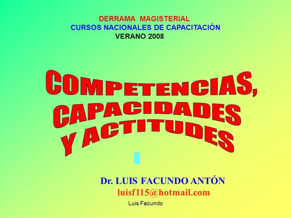 COMPETENCIAS, CAPACIDADES Y ACTITUDES Dr. LUIS FACUNDO ANTÓN