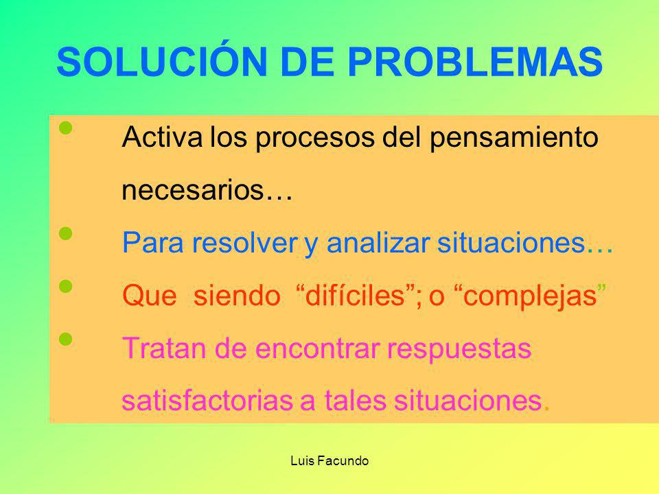 SOLUCIÓN DE PROBLEMAS Activa los procesos del pensamiento necesarios…