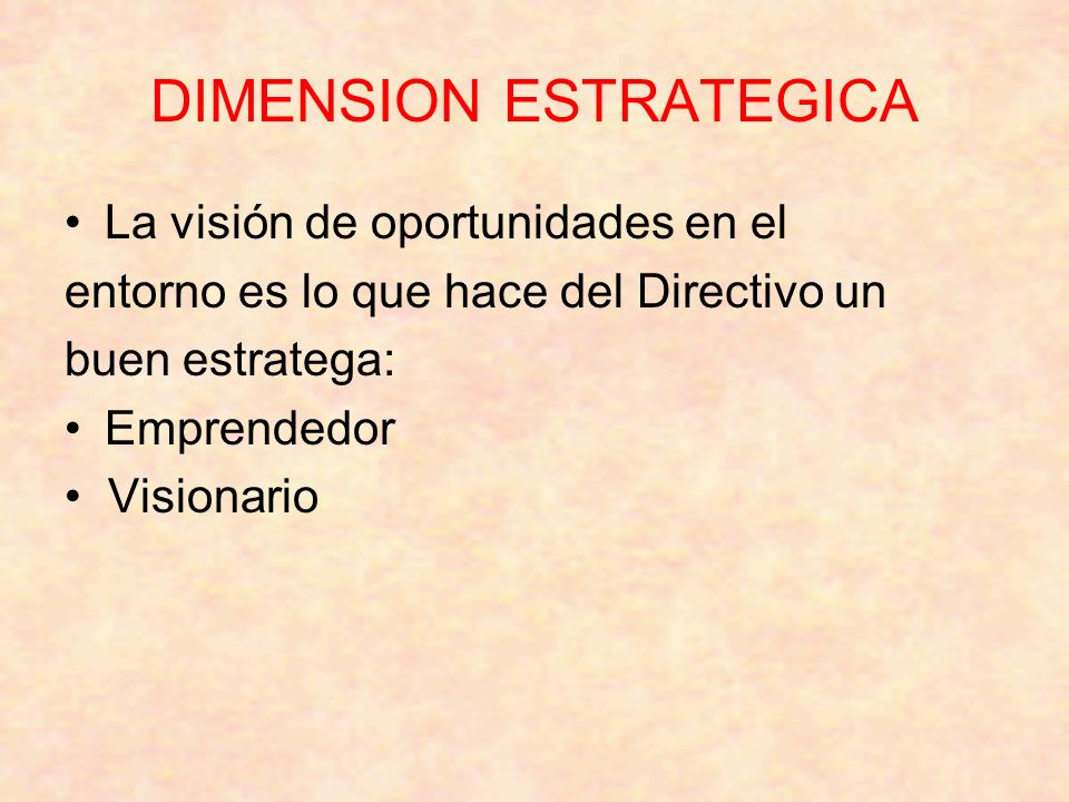 DIMENSION ESTRATEGICA