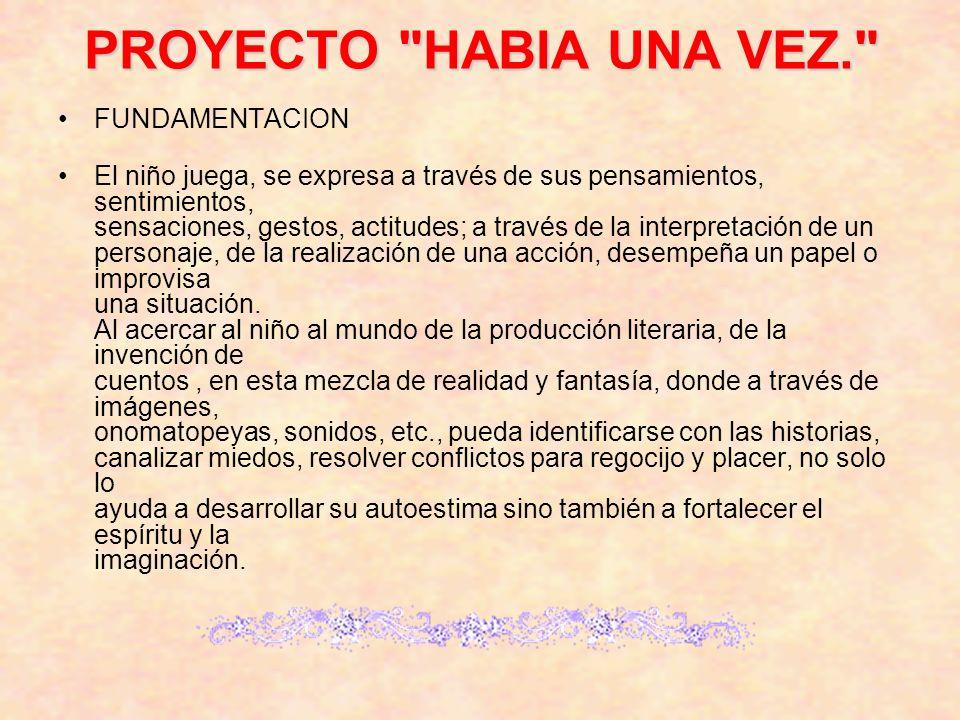 PROYECTO HABIA UNA VEZ. FUNDAMENTACION