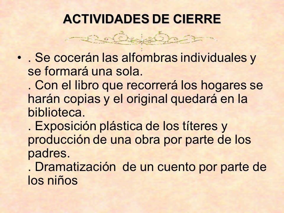 ACTIVIDADES DE CIERRE