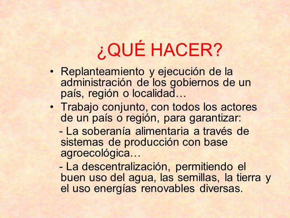 ¿QUÉ HACER Replanteamiento y ejecución de la administración de los gobiernos de un país, región o localidad…