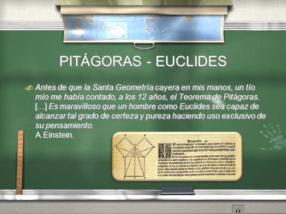 PITÁGORAS - EUCLIDES