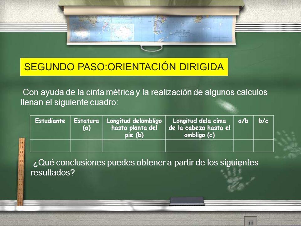 SEGUNDO PASO:ORIENTACIÓN DIRIGIDA