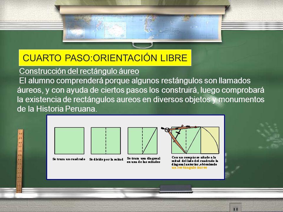 CUARTO PASO:ORIENTACIÓN LIBRE