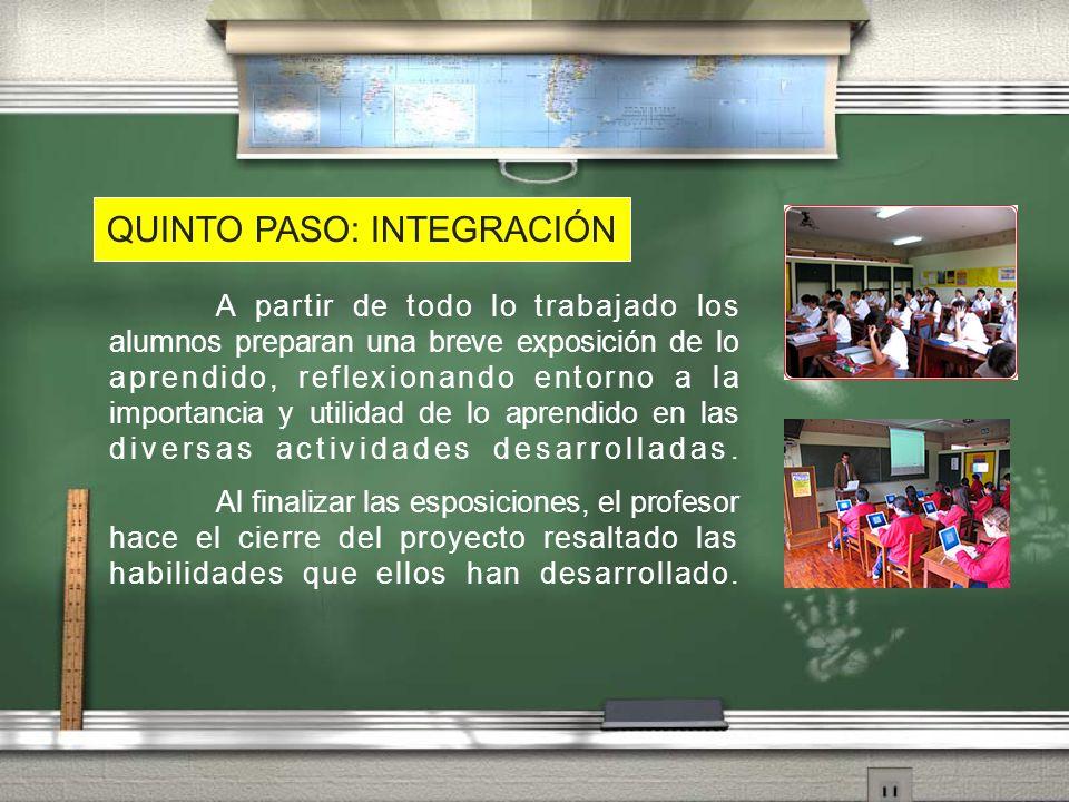 QUINTO PASO: INTEGRACIÓN