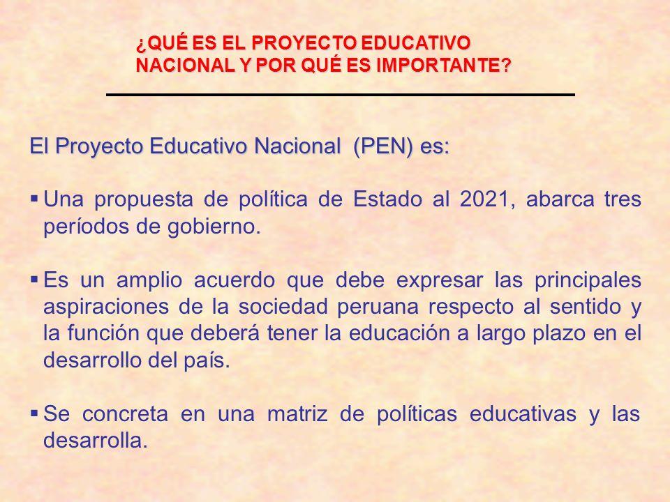El Proyecto Educativo Nacional (PEN) es: