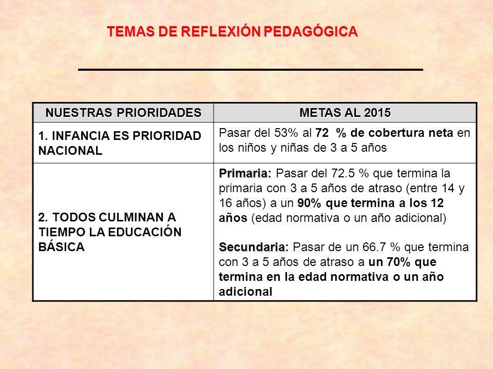 TEMAS DE REFLEXIÓN PEDAGÓGICA