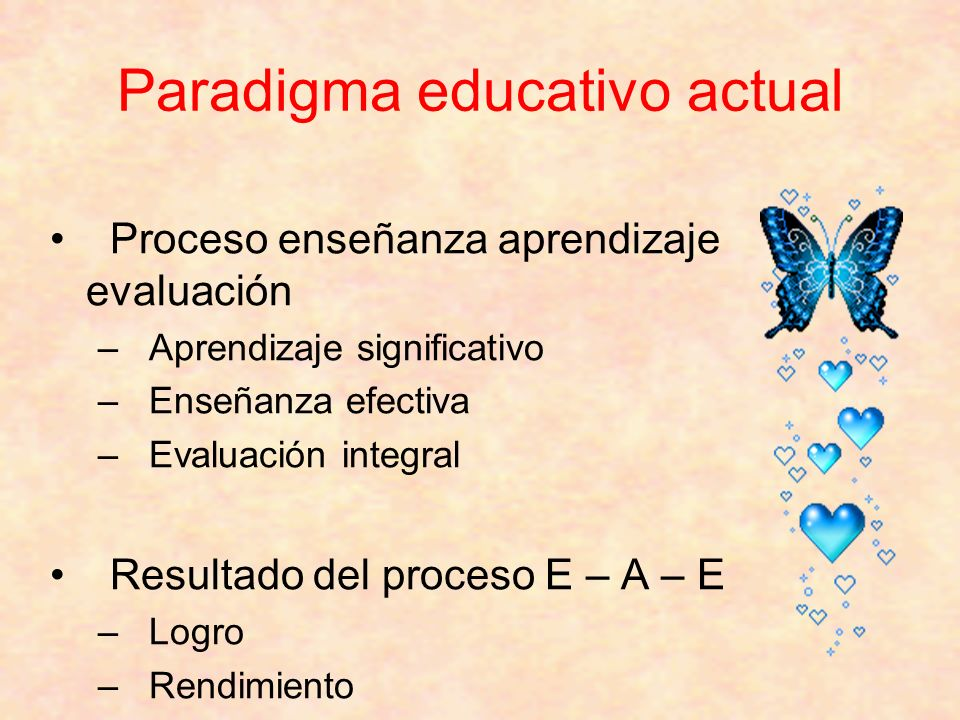 Paradigma educativo actual