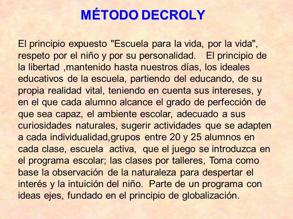 MÉTODO DECROLY