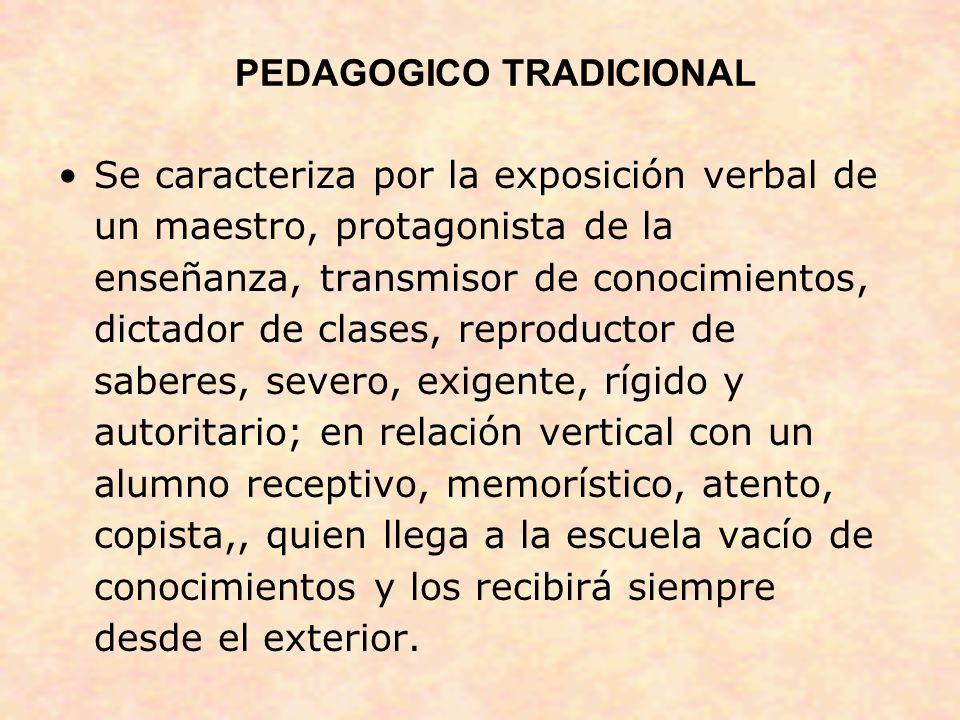 PEDAGOGICO TRADICIONAL
