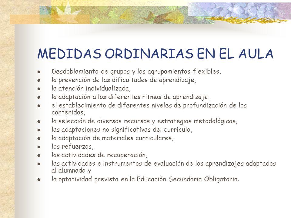 MEDIDAS ORDINARIAS EN EL AULA