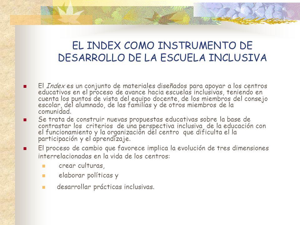 EL INDEX COMO INSTRUMENTO DE DESARROLLO DE LA ESCUELA INCLUSIVA