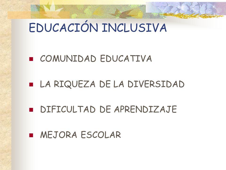 EDUCACIÓN INCLUSIVA COMUNIDAD EDUCATIVA LA RIQUEZA DE LA DIVERSIDAD