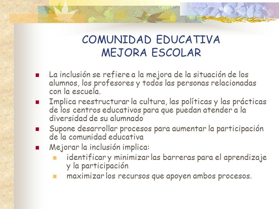 COMUNIDAD EDUCATIVA MEJORA ESCOLAR