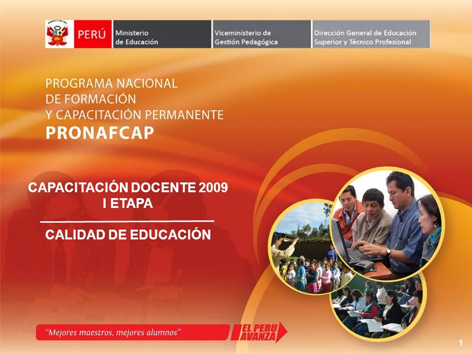 CAPACITACIÓN DOCENTE 2009 I ETAPA