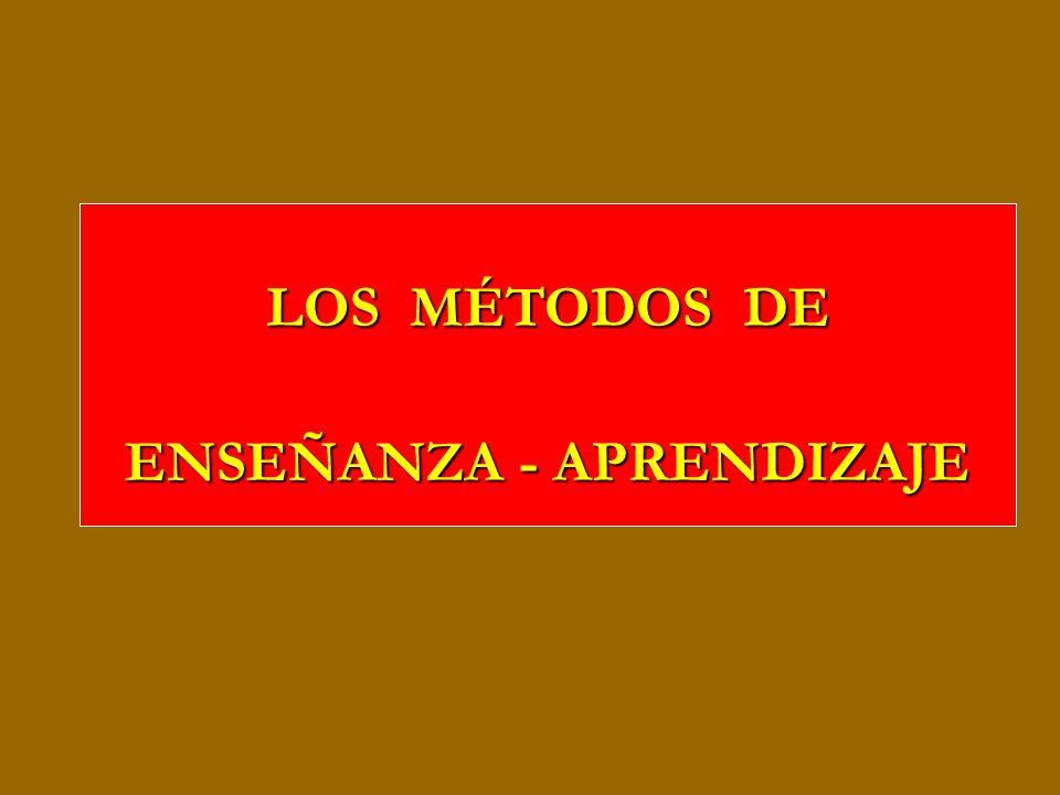 LOS MÉTODOS DE ENSEÑANZA - APRENDIZAJE