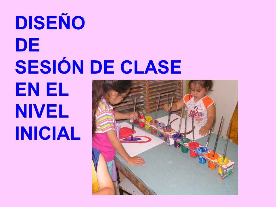 DISEÑO DE SESIÓN DE CLASE EN EL NIVEL INICIAL