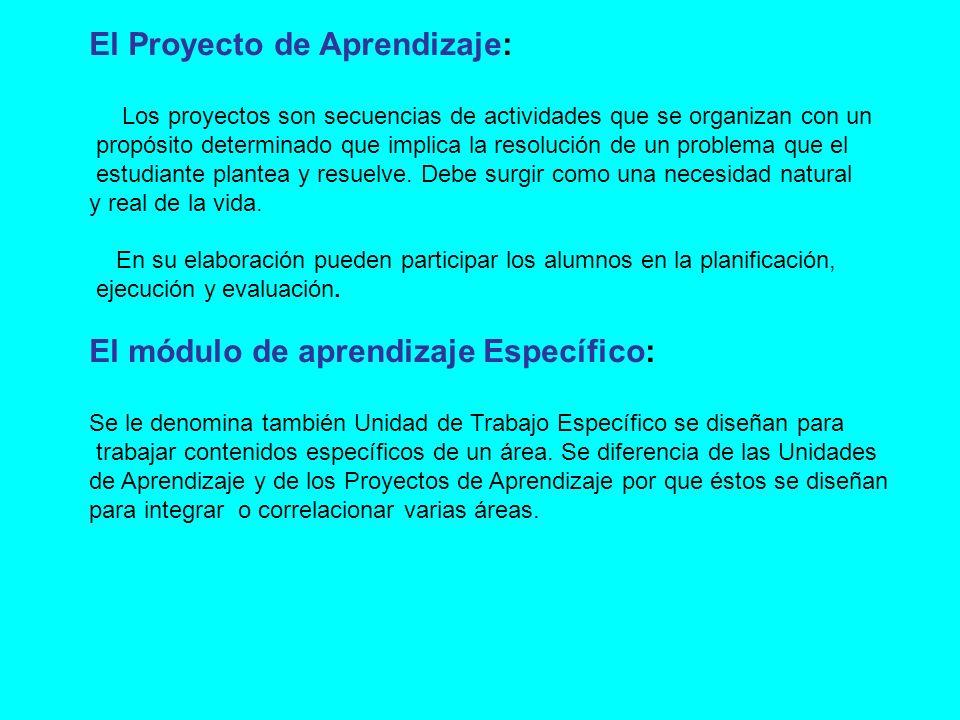 El Proyecto de Aprendizaje: